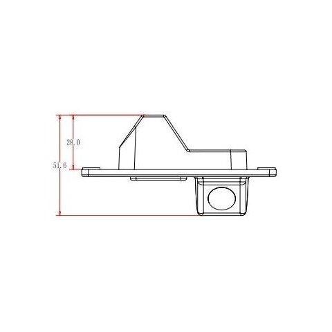 Cámara de visión trasera de coche para Mitsubishi Pajero Vista previa  3