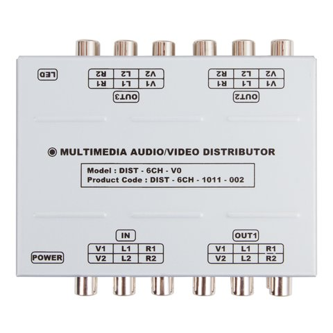 Universal A/V Signal Distributor (1 to 3) Preview 1
