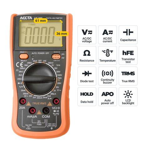 Цифровий мультиметр Accta AT-290 Прев'ю 2