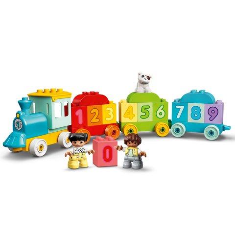 Конструктор LEGO DUPLO Потяг із цифрами – вчимося рахувати 10954 Прев'ю 1