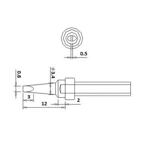 Soldering Tip Quick QSS200-0.8D Preview 1